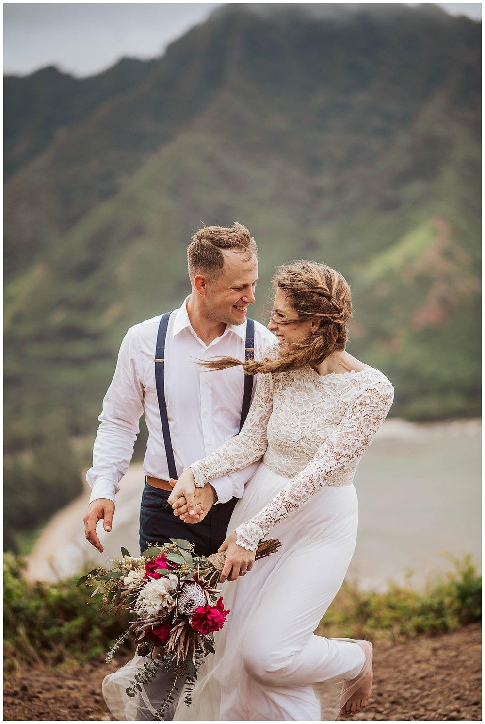 Hawaiian islands elopement
