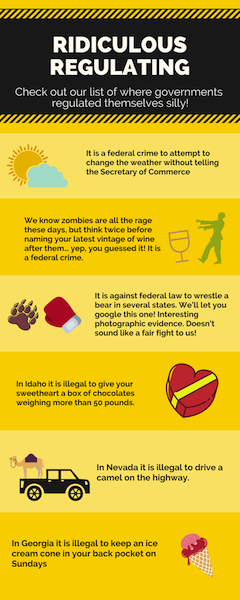 Ridiculous Regulating Infographic