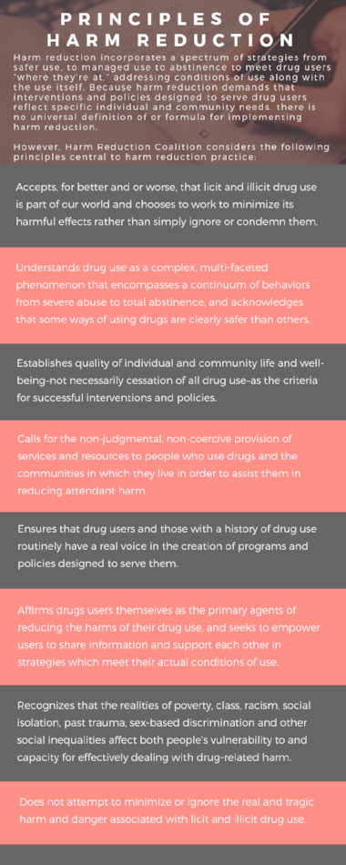 Principles of harm reduction infographic