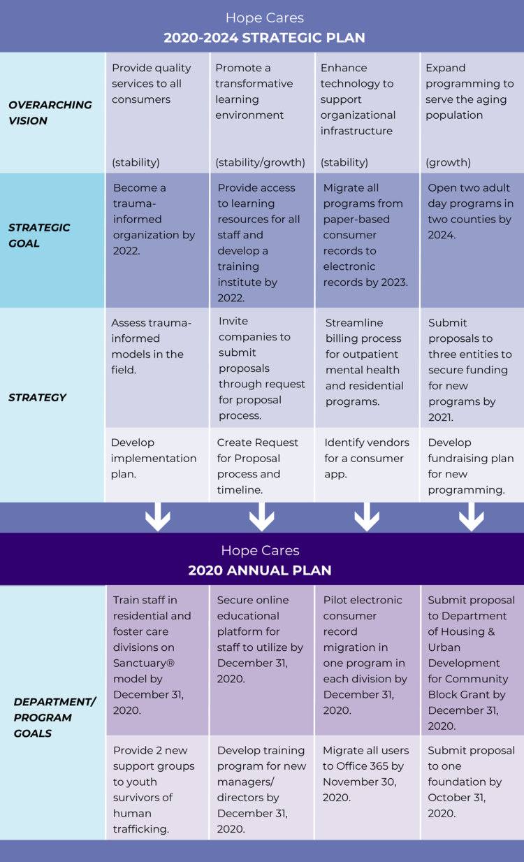 Example of a strategic and annual plan.