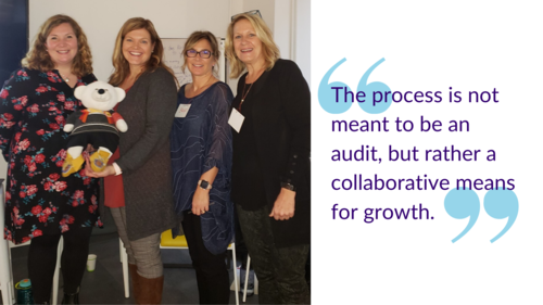 """""""The process is not meant to be an audit, but rather a collaborative means for growth."""""""