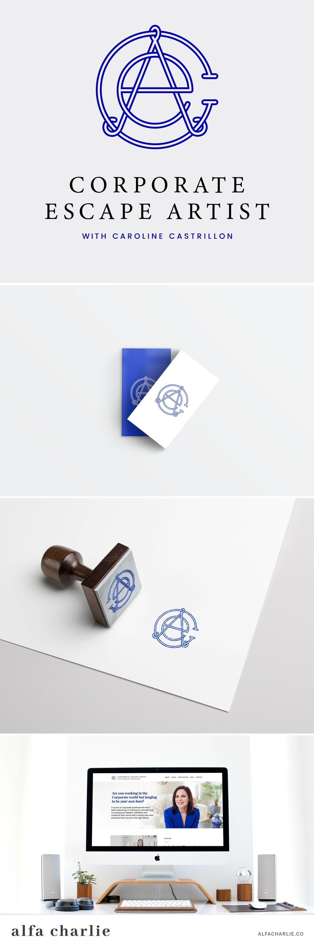 Alfa Charlie |Corporate Escape Artist | Branding | Creative Lady Directory