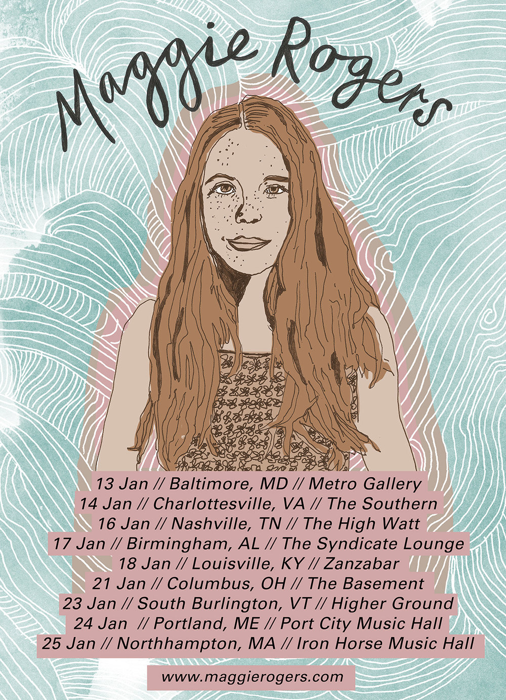 Mollie  Suss | Maggie Rogers Tour Poster | Creative Lady Directory