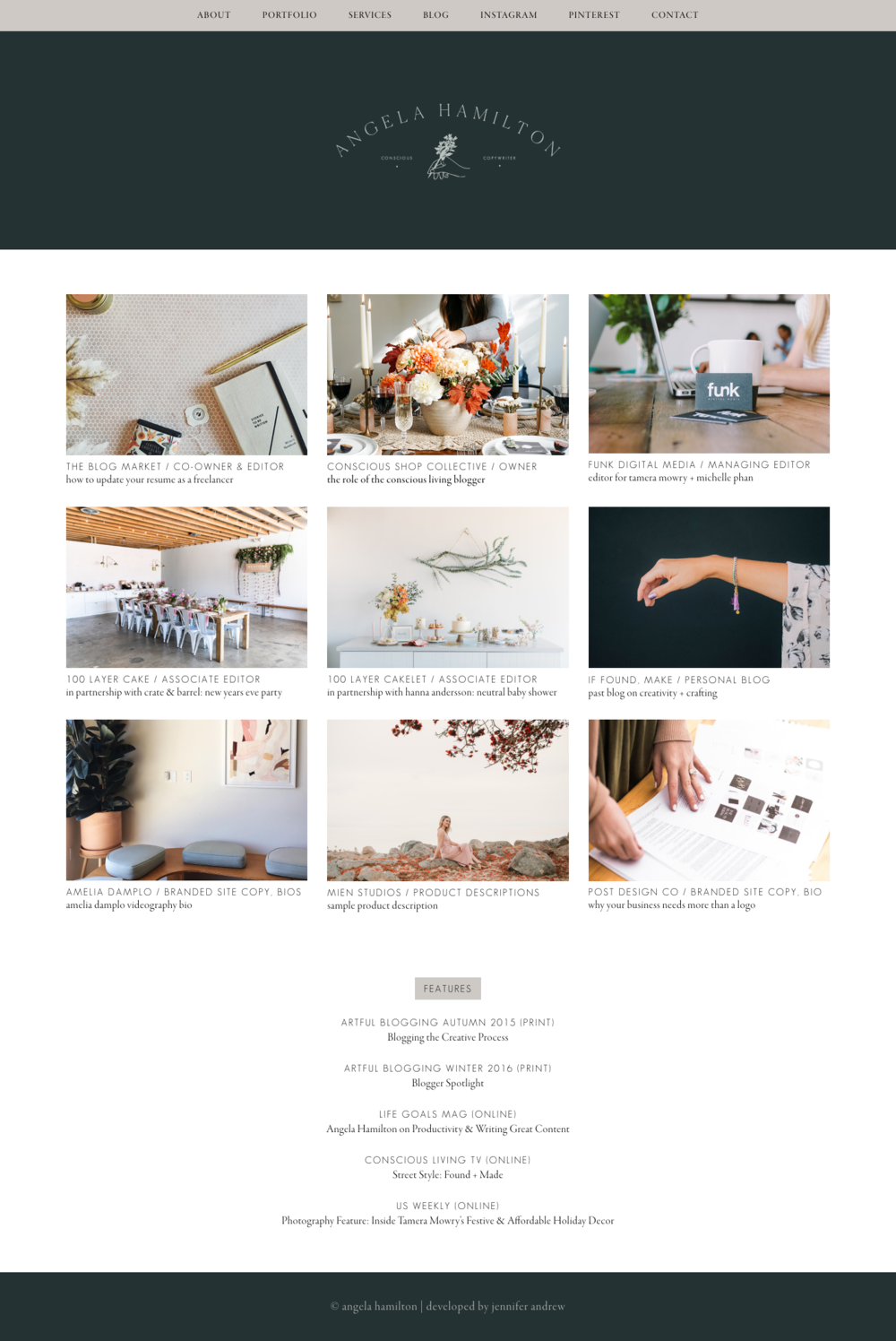 Angela Hamilton | Copywriter + Content Creator | Creative Lady Directory