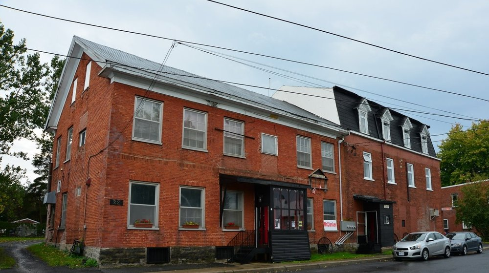 The Mccloskey Hotel is situated in this historical building in Chesterville, Ontario.