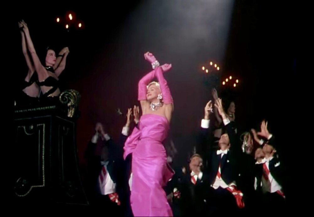 Screenshot from  Gentlemen Prefer Blondes.