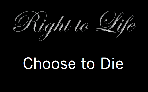 "Does it make your head spin when simultaneously some are fighting for the ""right to life"" while others are choosing to die?"