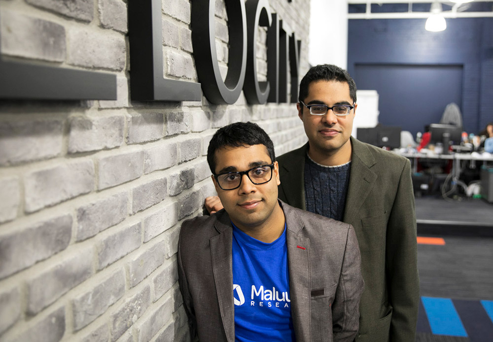 Maluuba founders Sam Pasupalak and Kaheer Suleman. Photo: Phil Froklage, Communitech