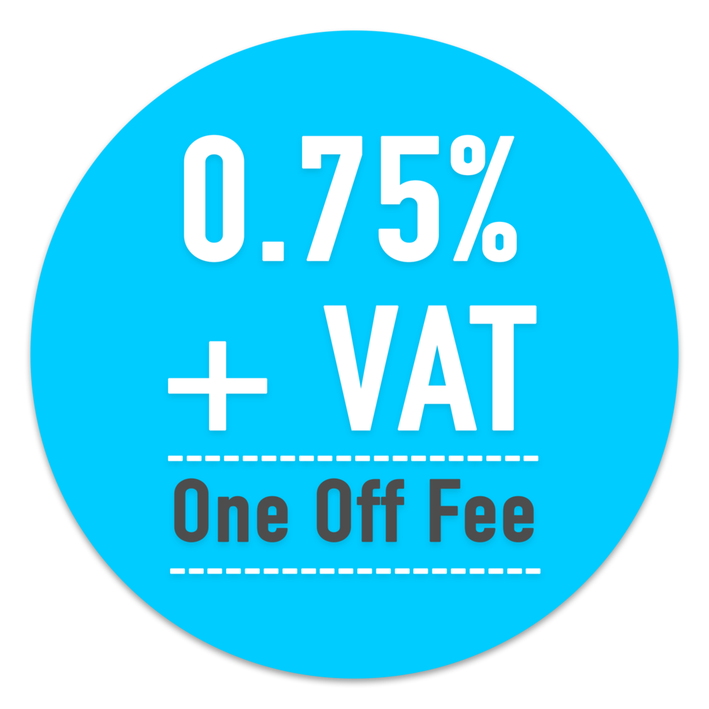 Woodhouse Estates Sales Fee is 0.75% + VAT