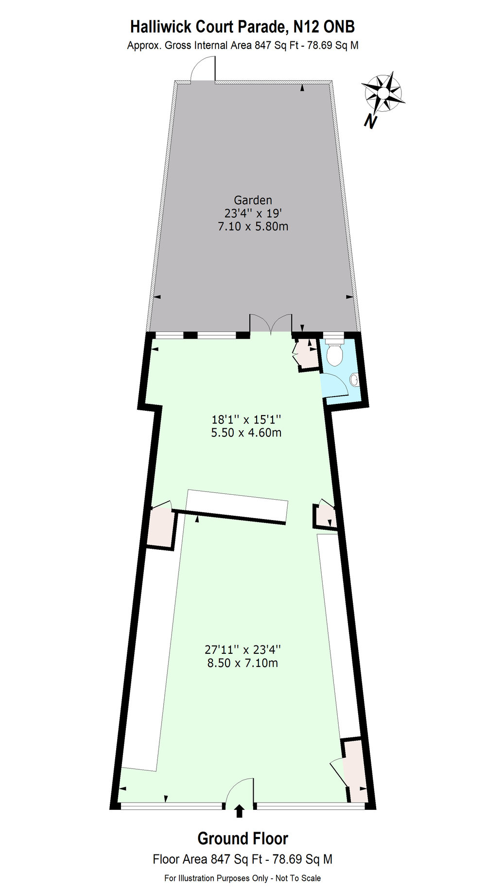 Floor Plan for Halliwick Court Parade, N12