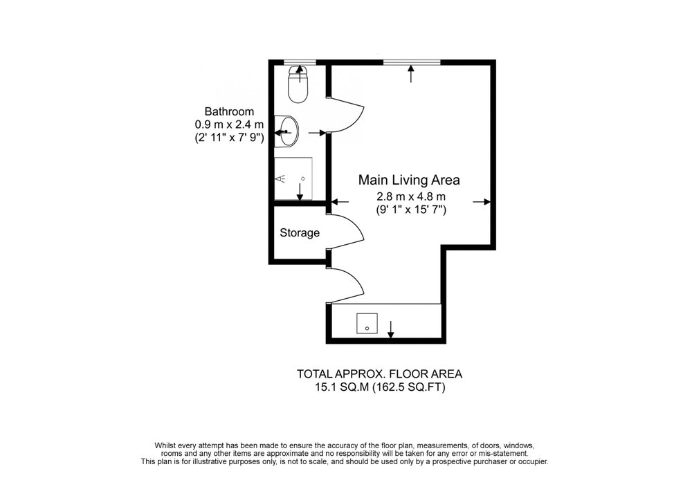 Flat 9, 56 West End Lane Floor Plan