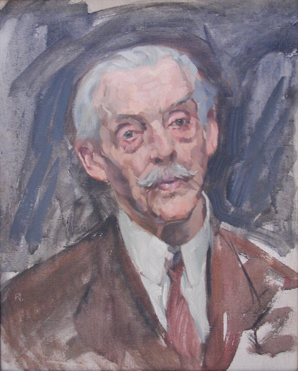 Portrait of an Older Man with Moustache