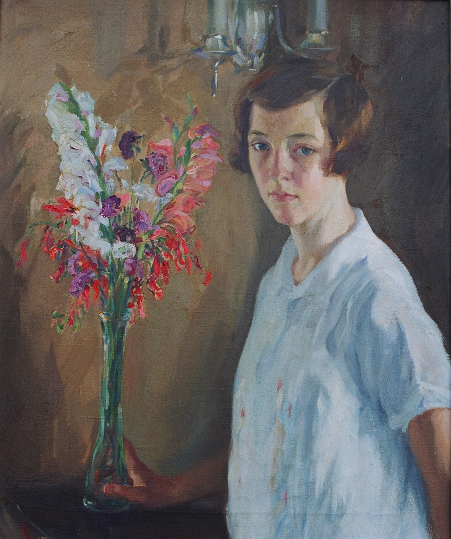 Dorothy with a Vase of Flowers