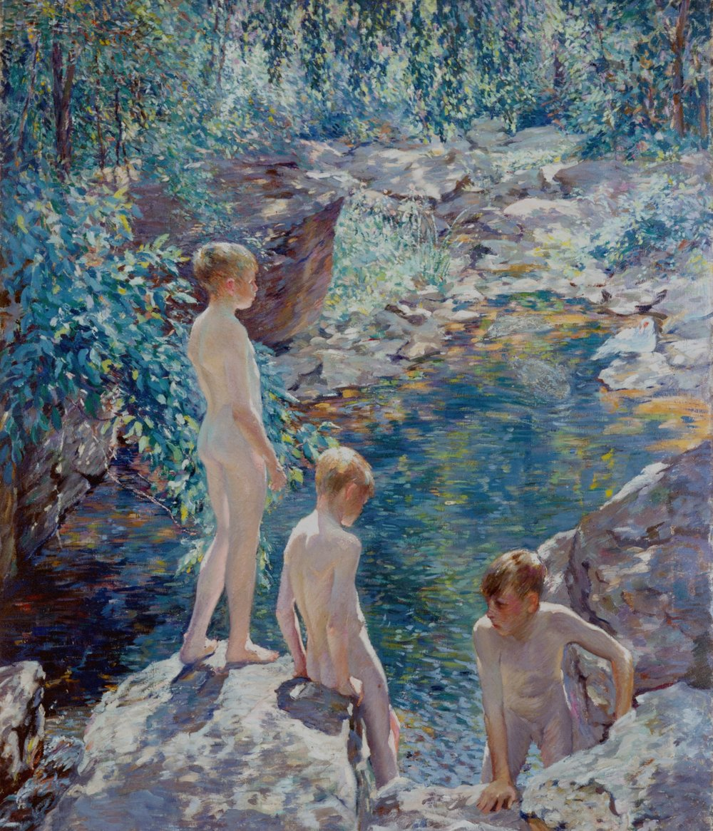 Three Boys at the Sheephole