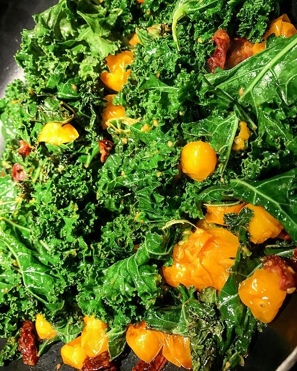 Sautéed Kale Tomato Salad
