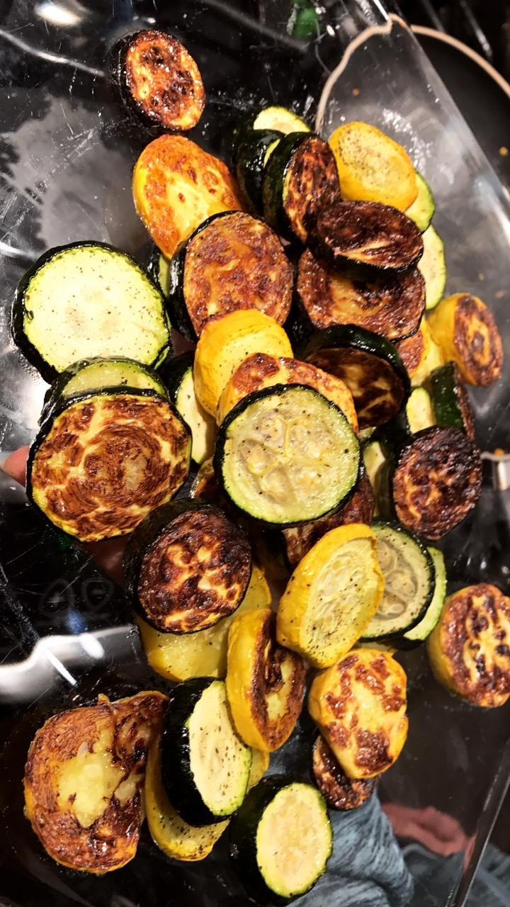 Roasted Zucchin Chipsi