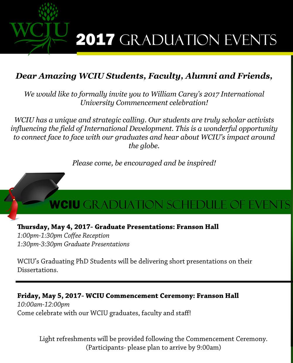 Graduation Invitation 2017