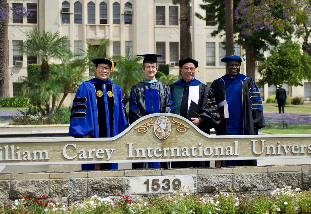 Last year's Commencement Ceremony was amazing! On the far right is our 2017 Commencement Speaker, Moussa Bongoyok, Ph.D., who blew us away with an amazing message! We are looking forward to Commencement 2018. Hope to see you there!