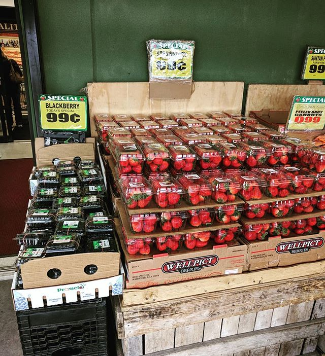 Strawberries and Blackberries for 99¢ this weekend at our Copiague location!