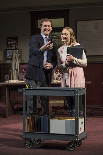 Cliff Chamberlain (Mr. Peel) and Brittany Burch (Ms. Johnson) Photo by Michael Brosilow