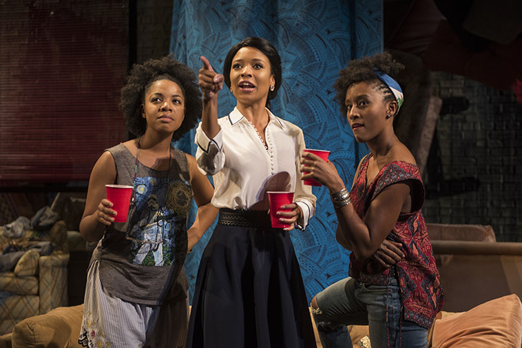 Nora Carroll, Leea Ayers and Celeste M. Cooper. Photo by Michael Brosilow
