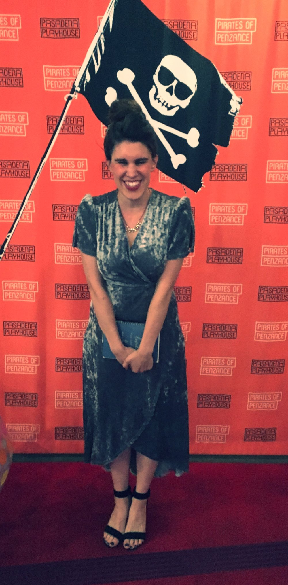 Wench'n it on the red carpet. (Insert joke about my pirate's booty)