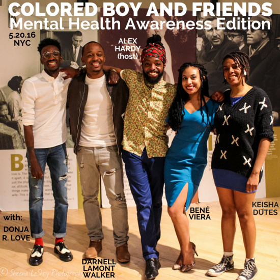 At Colored Boy and Friends: Mental Health Awareness Edition in May with the squad.