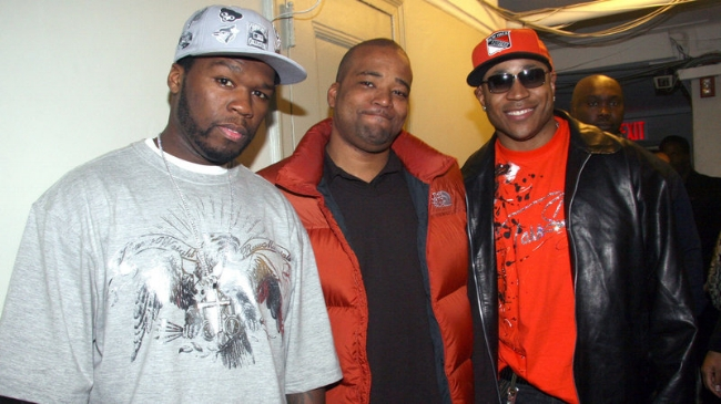 50 Cent, Chris Lighty, and LL Cool J (image by Johnny Nunez/Wire Image)