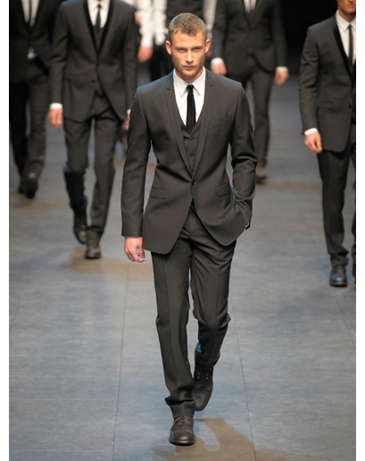 three piece suit dolce mens fashion