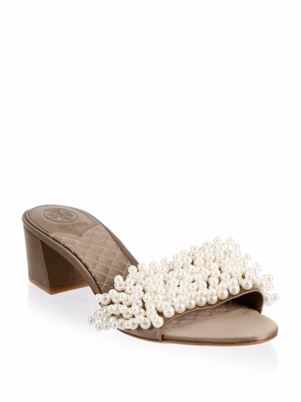 Tory Burch Tatian Dust Slide Sandals  - For the woman in your life who loves to stand out - pair these with an LBD and you have a show-stopping look.