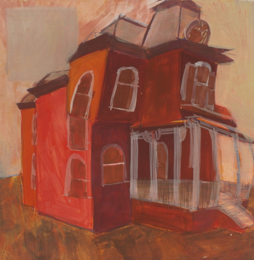 This piece, Titled  Vacation Home  will be in the town Hall show, including another piece called  Factory Tin Cans