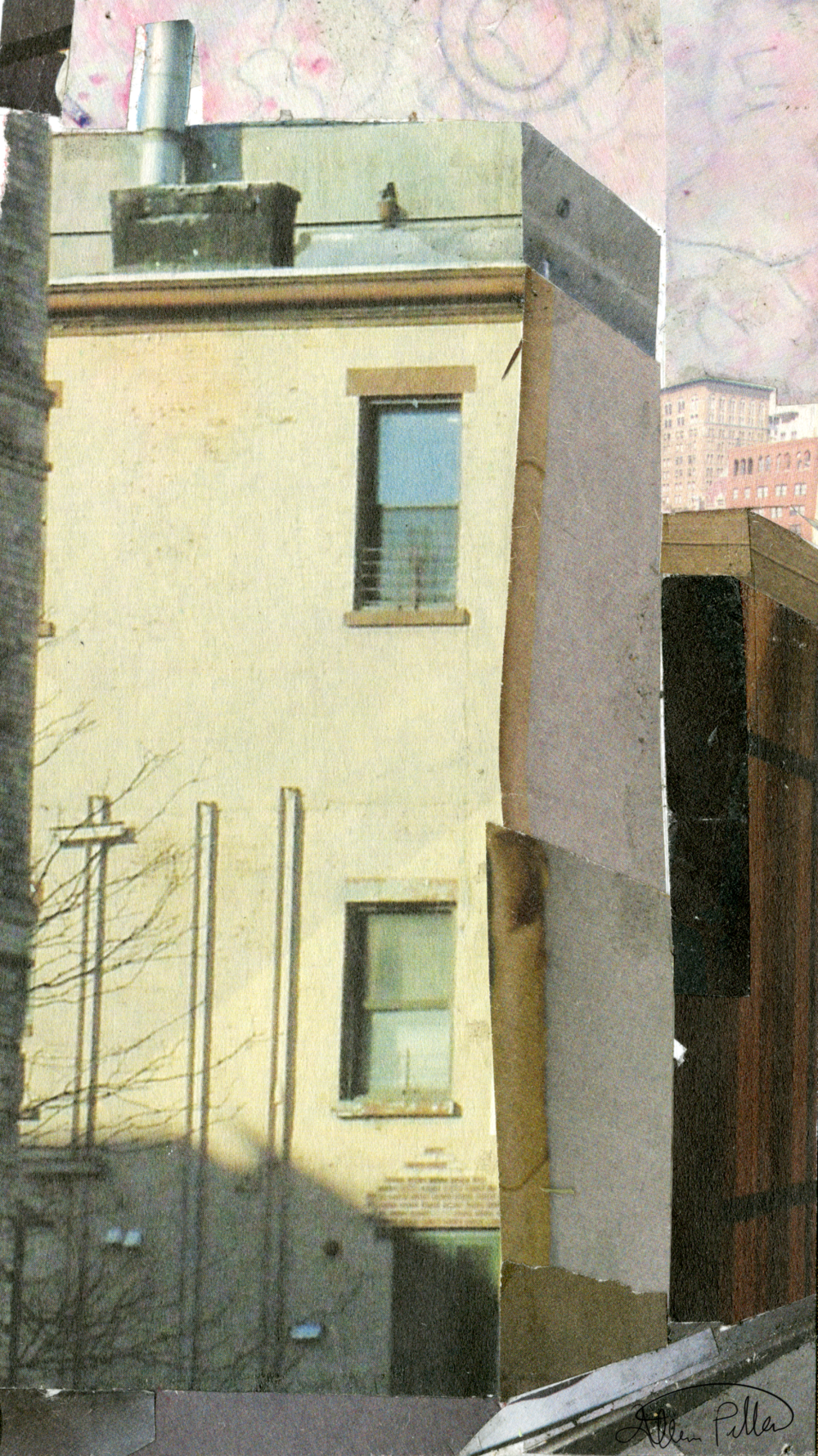 "Main Street  2016 , Collage 4"" x 7"""