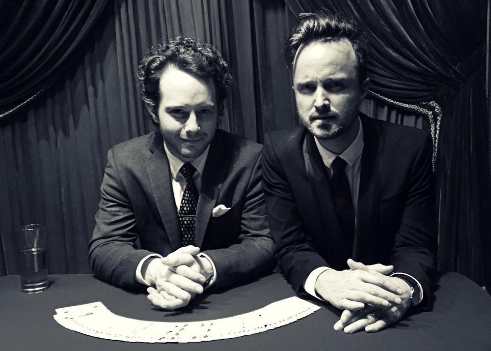 Jared Kopf and Aaron Paul CP BW.jpg
