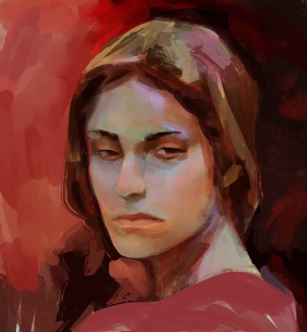 Warm up this morning/lunch. Want to push the colours in painting more. #art #painting #sketch #warmup #sketchaday
