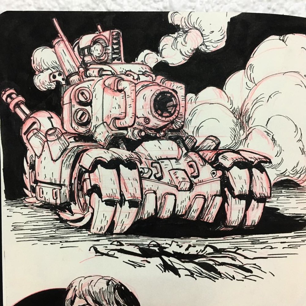 There Is tanks and there is the #MetalSlug tank #inktober2016 #inktober