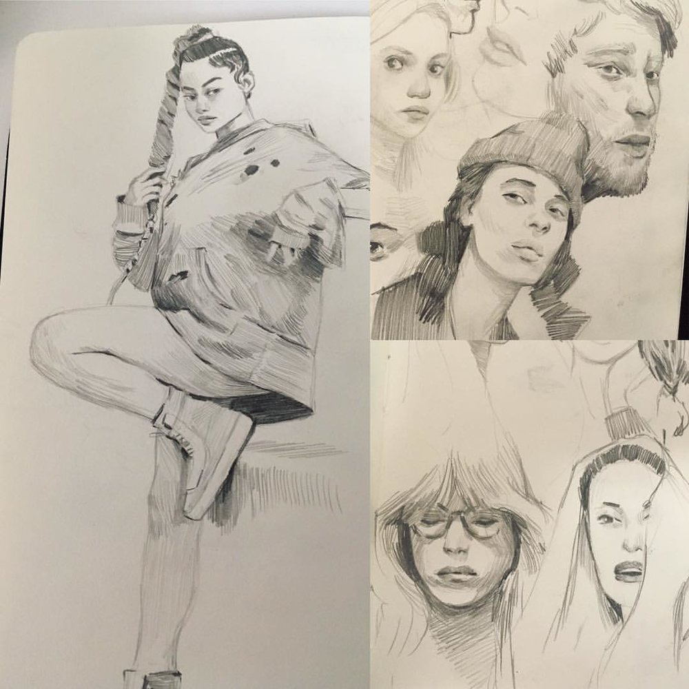 Been a while #Instagram Was out of town for a bit. And busy with life Did some #sketches in my #moleskin some #studies some from my head I'll post some more stuff soon. From challenging time, in a galaxy far far away.  #drawings #folks #art #sketchaday #sketchbook (at Toronto, Ontario)