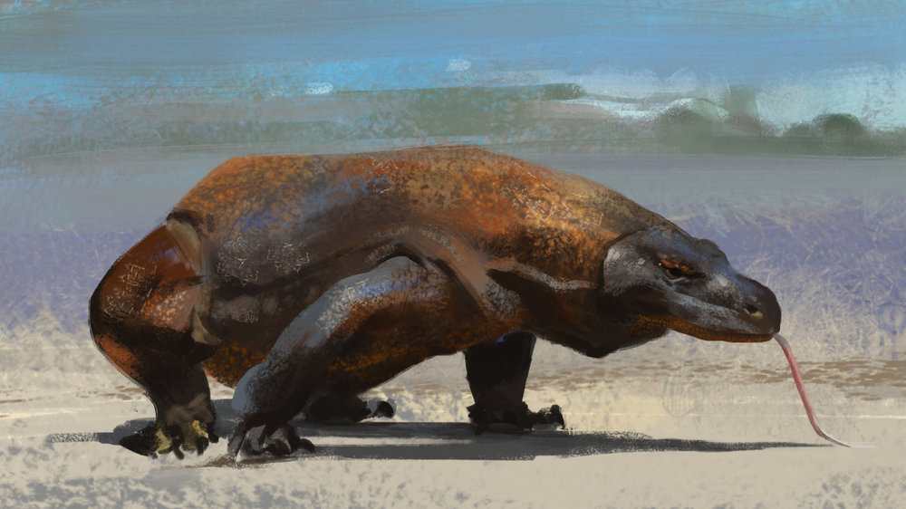 May sketch day 16 missed a couple of days. To that I say KOMODO!