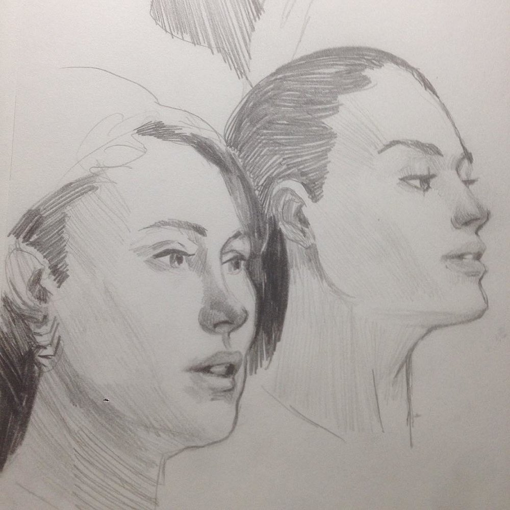 Warm up from today #filmstudies #drawing #sketches #art #molskine #study #asketchaday #photo