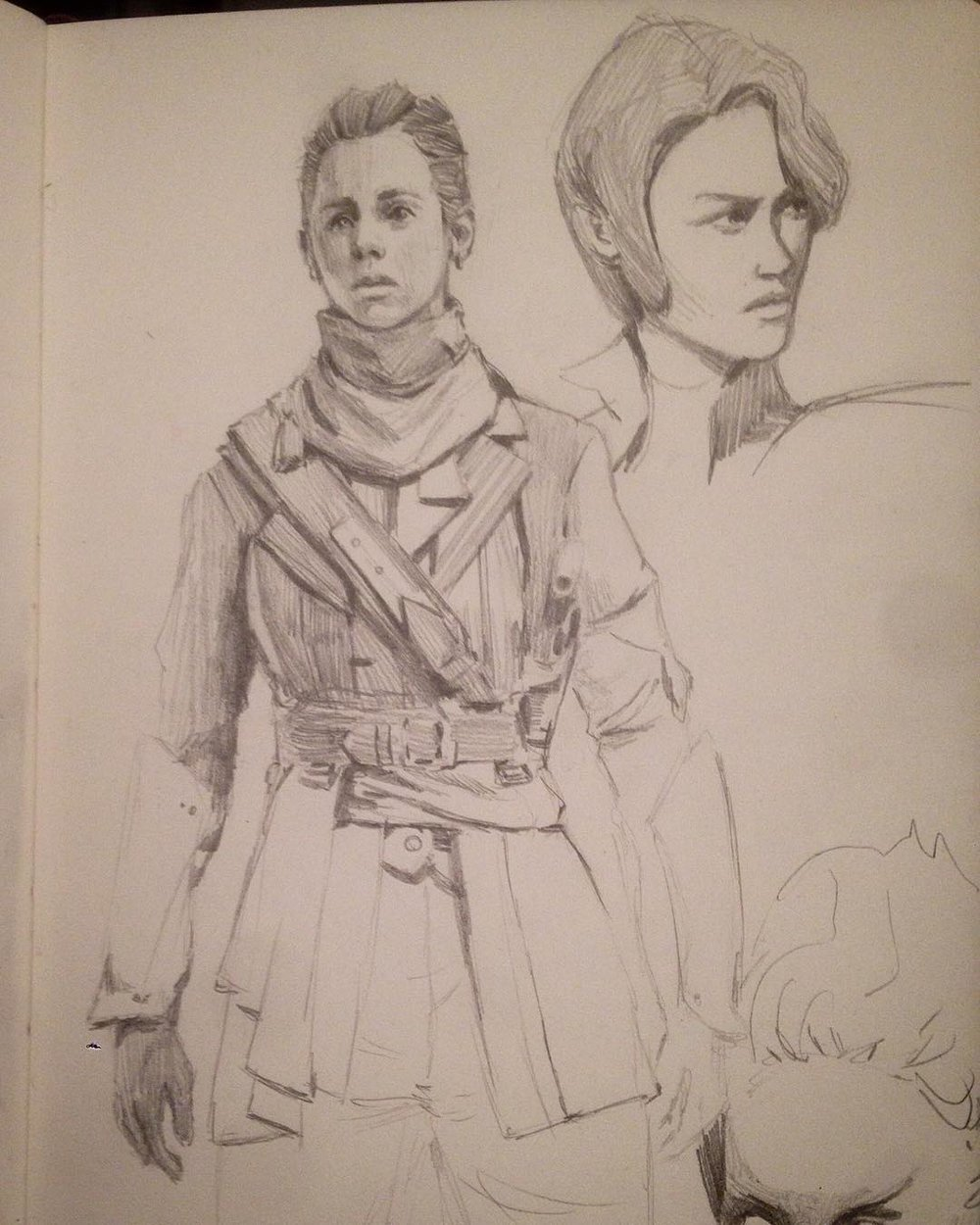 Warm up, #sculptstudy #order1886 and one other #figure #facestudy #asketchaday #molskine #sketchbook #pencildrawing