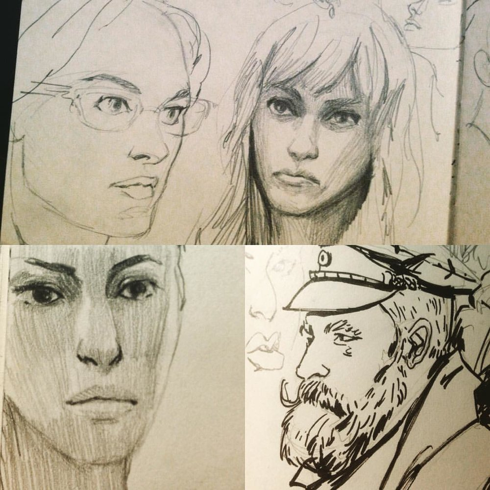Warm up Sketches #art #sketches #study #sketkchbook #pencildrawing #inkdrawing #drawing