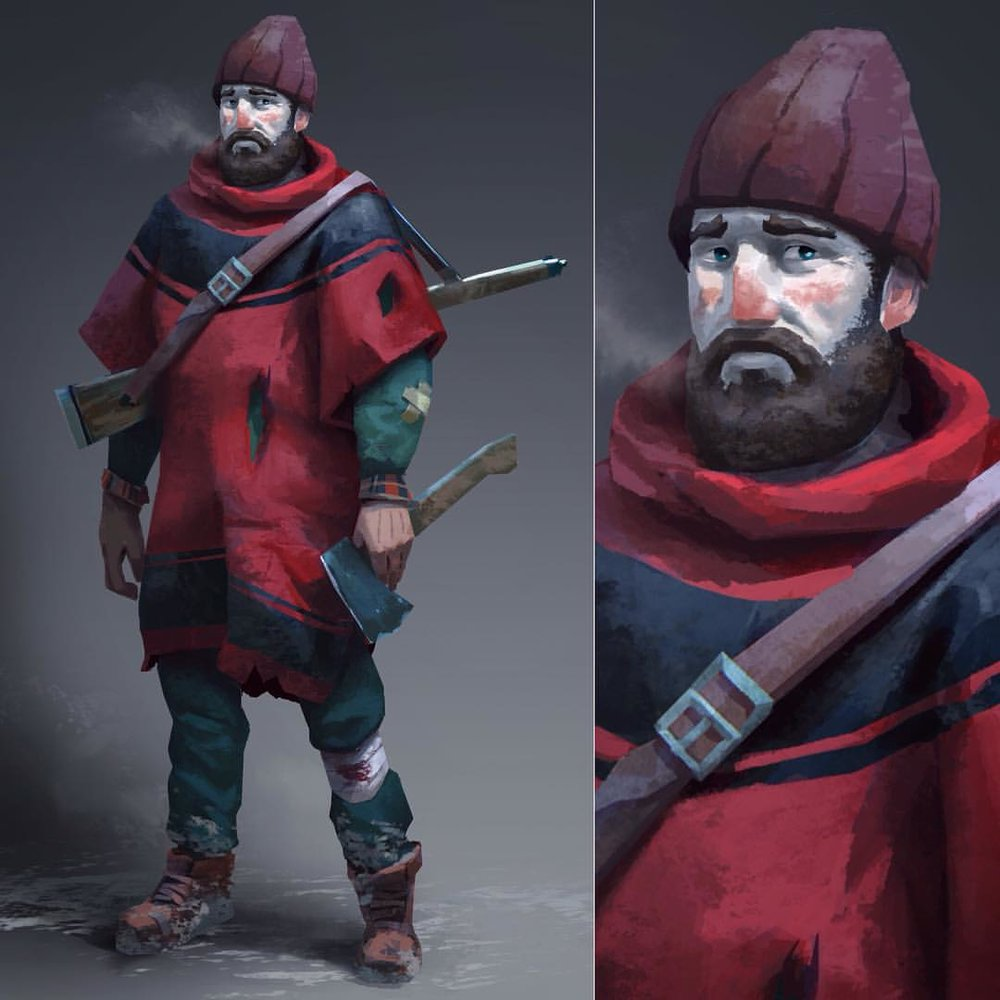 This is Will Mackenzie, one of the playable characters in the long dark's Story Mode, coming in 2016 Copyright 2015 Hinterland Studio Inc. Used with permission #TheLongDark #ConceptArt #Hinterland #survivor #characterconcept
