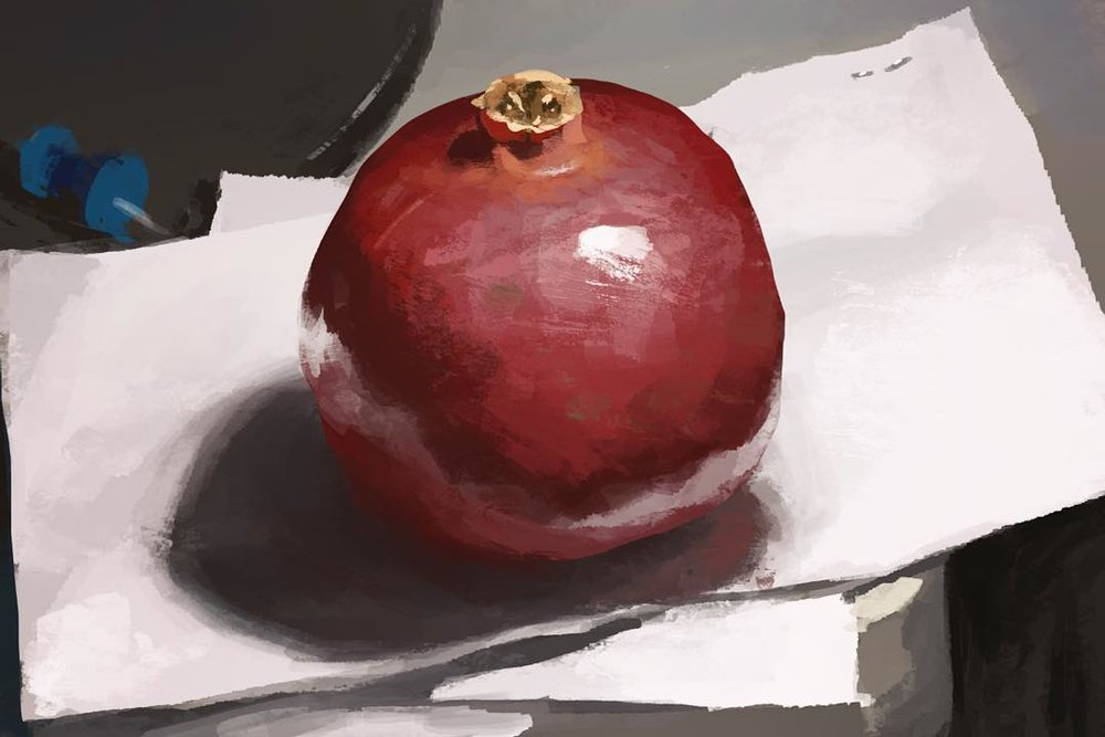 This is a pomegranate, it was delicious. Lighting study #PomegranatePower #study