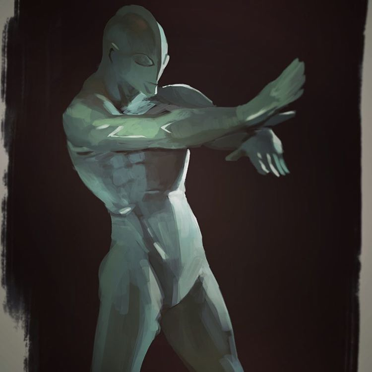 #Ultraman lighting morning study from a couple of days ago