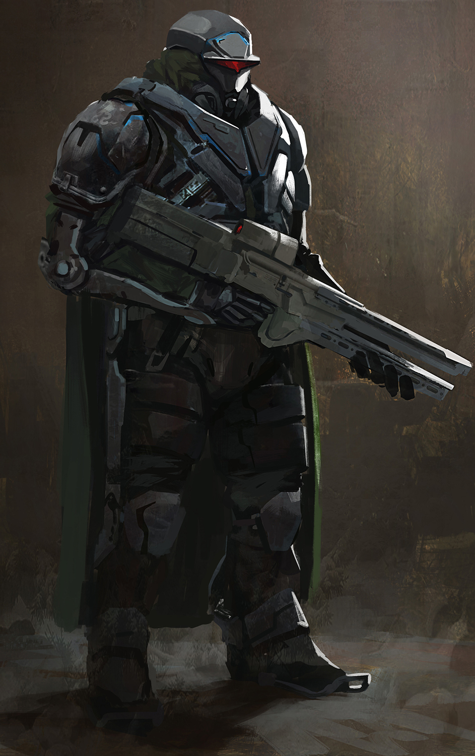 Messing around, sometimes it's just nice to paint some cool solider dude. #scifi