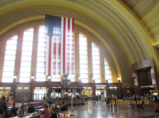 When in Cincinnati, DO NOT, under any circumstances, omit a visit to the Union Terminal train station, a high holy temple of Art Deco.