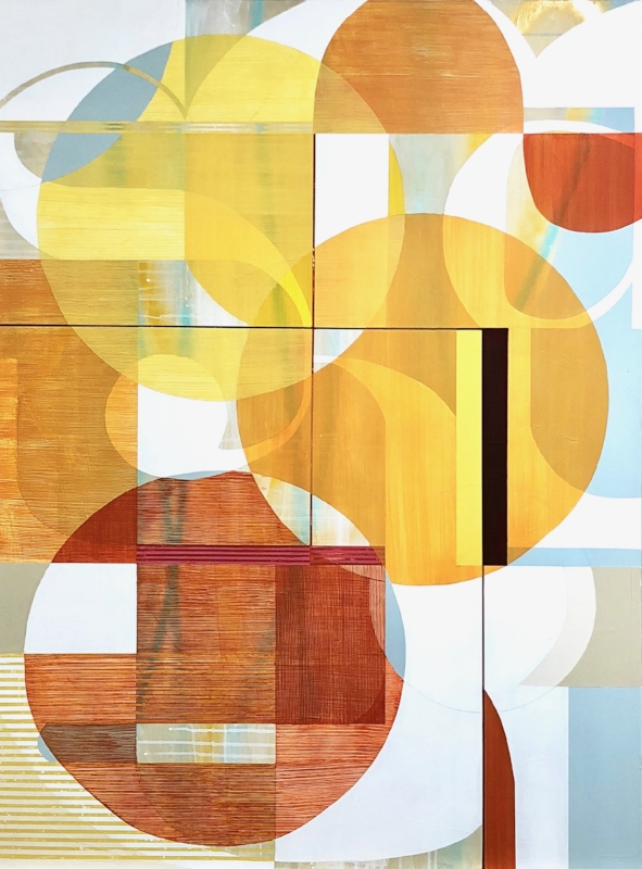 Sunny Day in LA  36 x 48 inches  Acrylic on Canvas  SOLD