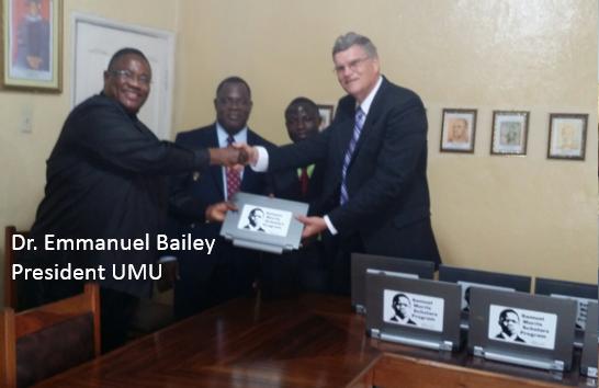 L to R: Dr. Emmanuel F. Bailey, Elijah Tarpeh, Alexander Quiah, Gary Friesen