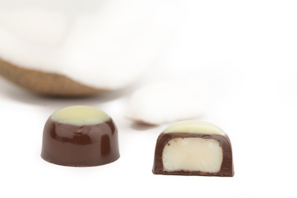 Noce di Cocco - Raw coconut cream inside delightful chocolate