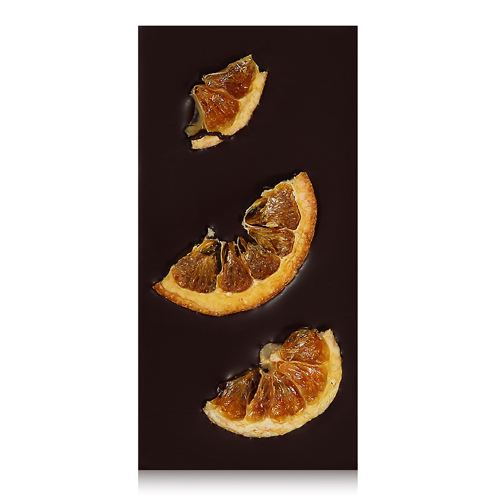 Zesty Orange Chocolate Bar - Organic dried orange slices