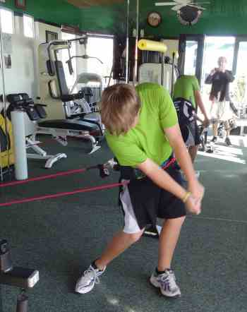 Christopher Tuulik (3rd youngest qualifier at the 2011 US Amateur tournament) training at Skip's Elite Performance Golf training center.